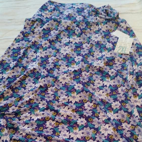 LuLaRoe Dresses & Skirts - Bnwt Lularoe slinky floral 2xl maxi skirt